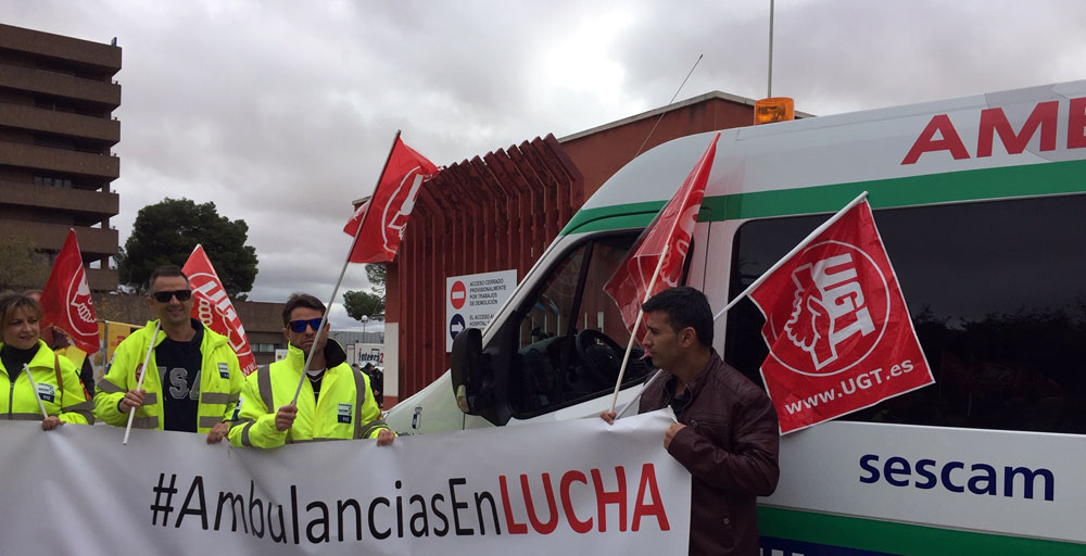 UGT huelga ambulancias